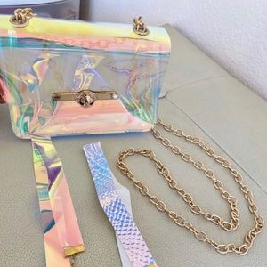Holographic Crossbody Bag (w/ matching necklaces)
